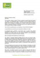Lettre de David Cormand Secrétaire national d'EELV à Pierre Laurent