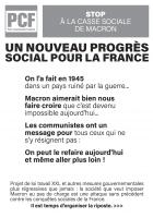 Stop à la casse sociale de Macron. Un nouveau progrès soviale pour la France