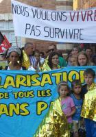 Rassemblement à l'appel du comité de soutien aux sans-papiers