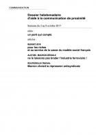 Dossier hebdomadaire d'aide à la communication de proximité. Semaine du 2 au 8 octobre 2017