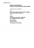 Dossier hebdomadaire d'aide à la communication de proximité. Semaine du 10 au 16 avril 2017