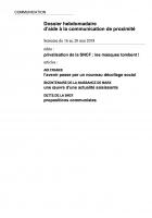 Dossier hebdomadaire d'aide à la communication de proximité. Semaine du 16 au 20 mai 2018