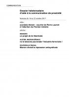 Dossier hebdomadaire d'aide à la communication de proximité. Semaine du 16 au 22 octobre 2017