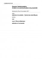 Dossier hebdomadaire d'aide à la communication de proximité. Semaine du 20 au 26 novembre 2017
