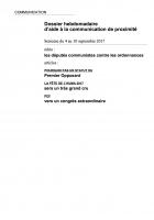 Dossier hebdomadaire d'aide à la communication de proximité. Semaine du 4 au 10 septembre 2017