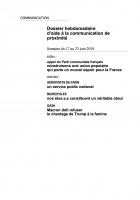 Dossier hebdomadaire d'aide à la communication de proximité. Semaine du 17 au 23 juin 2019
