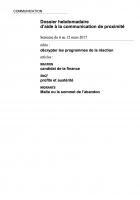 Dossier hebdomadaire d'aide à la communication de proximité. Semaine du 6 au 12 mars 2017