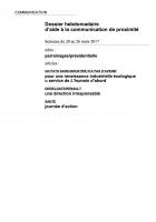Dossier hebdomadaire d'aide à la communication de proximité. Semaine du 20 au 26 mars 2017