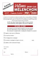 Appel à voter Jean-Luc Mélenchon