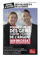 Appel à voter Ian Brossat des salarié.e.s de la santé
