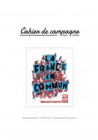 Cahier de campagne pour les présidentielles et les législatives