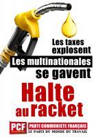 Hausse des prix du carburant. Halte au racket (tract-pétition)