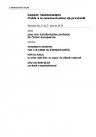 Dossier hebdomadaire d'aide à la communication de proximité. Semaine du 21 au 27 janvier 2019
