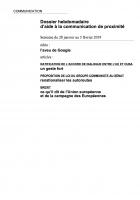 Dossier hebdomadaire d'aide à la communication de proximité. Semaine du 28 janvier au 3 février 2019