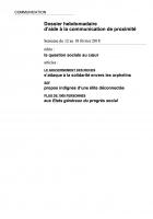 Dossier hebdomadaire d'aide à la communication de proximité. Semaine du 12 au 18 février 2018