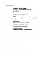Dossier hebdomadaire d'aide à la communication de proximité. Semaine du 7 au 13 octobre 2019