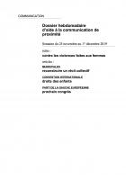 Dossier hebdomadaire d'aide à la communication de proximité. Semaine du 25 novembre au 1er décembre 2019