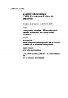 Dossier hebdomadaire d'aide à la communication de proximité. Semaine du 27 janvier au 2 février 2020