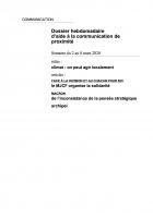 Dossier hebdomadaire d'aide à la communication de proximité. Semaine du 2 au 8 mars 2020