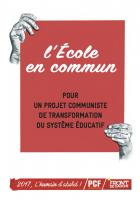 l'École en commun pour un projet communiste de transformation du système éducatif