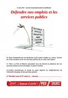 21 mars 2017. Journée interprofessionnelle de mobilisation Défendre nos emplois et les services publics