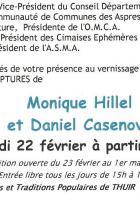 Thuir. Vernissage de l'exposition de peintures et sculptures de Monique Hillel et Danielle Casenove