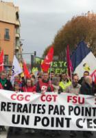 Manifestation contre le projet de retraite de Macron