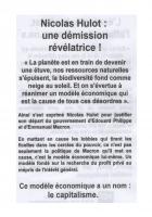 Section de Perpignan du PCF. Nicolas Hulot: une démission révélatrice