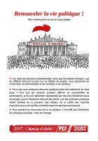 Renouveler la vie politique ! Placer l'intérêt général au cœur de l'action publique