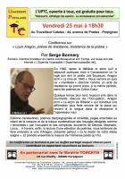 UPTC. « Louis Aragon, poésie de résistance, résistance de la poésie »