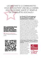 Les militant·e·s communistes vous souhaitent unes belle année 2021 en bonne santé et remplie de conquêtes sociales ! (tract)