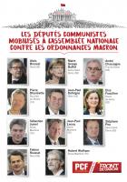 Les Députés communistes mobilisés à l'Assemblée nationale contre les ordonnances Macron