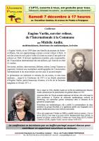 UPTC. Eugène Varlin, ouvrier relieur, de l'Internationale à la Commune