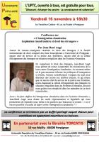 UPTC. « L'immigration clandestine Législation transfrontière et droit des étrangers »