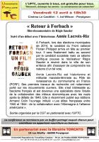 UPTC. « Retour à Forbach »