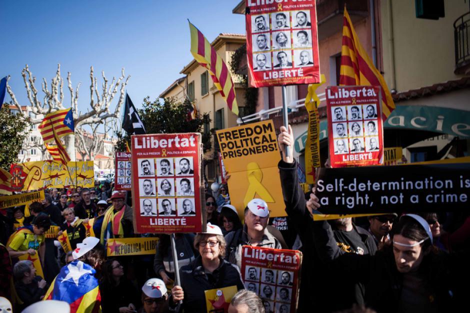 Libération des prisonniers politiques catalans. Manifestation unitaire et solidaire