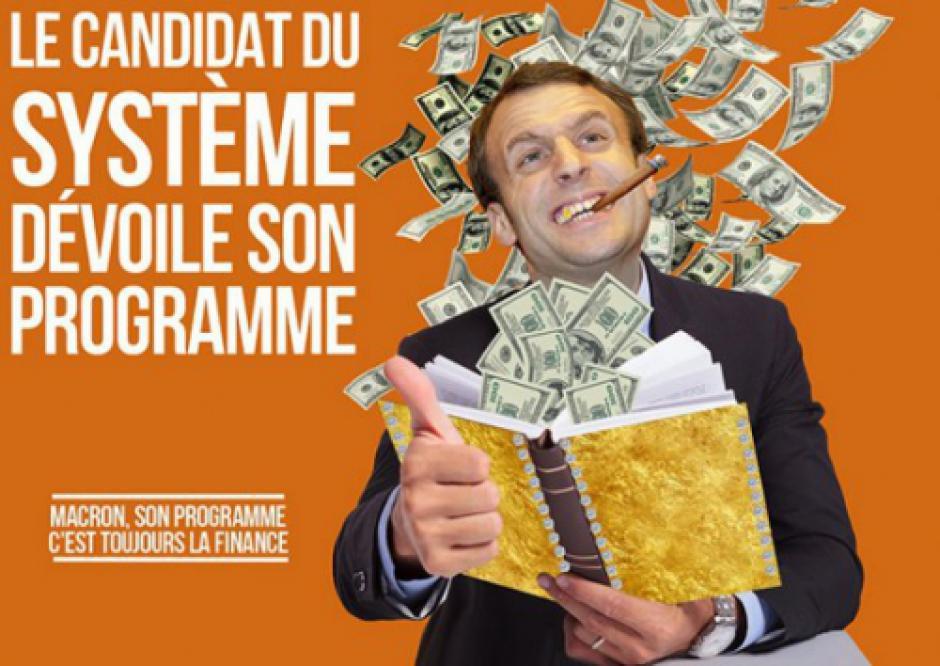 Rassemblement contre la politique ulta-libérale de Macron