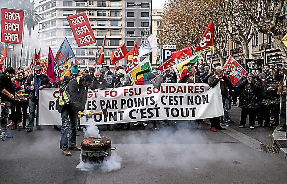Tour de chauffe avant la marée humaine contre la réforme des retraites à Perpignan