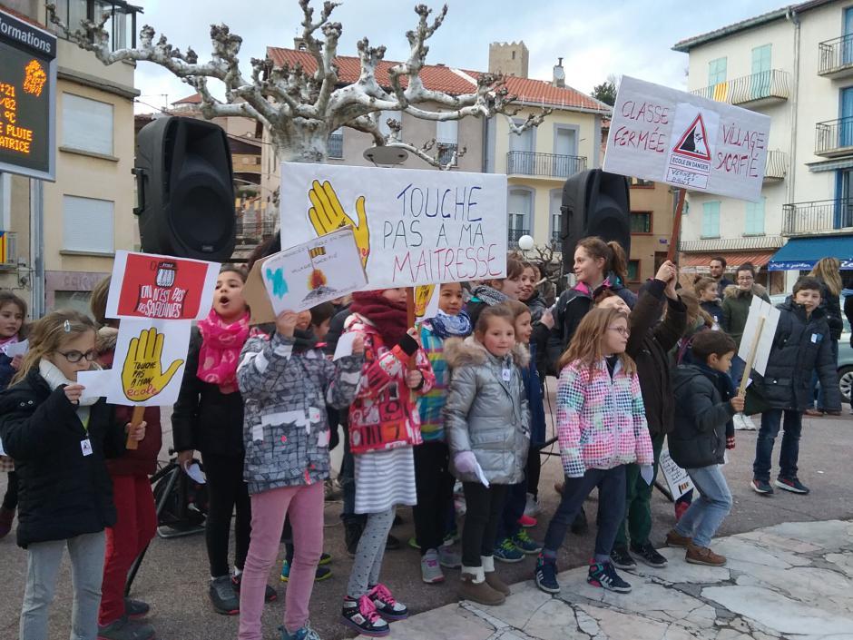 Vernet-les-Bains. Parents, enseignants, élus, population mobilisé contre la fermeture de classe