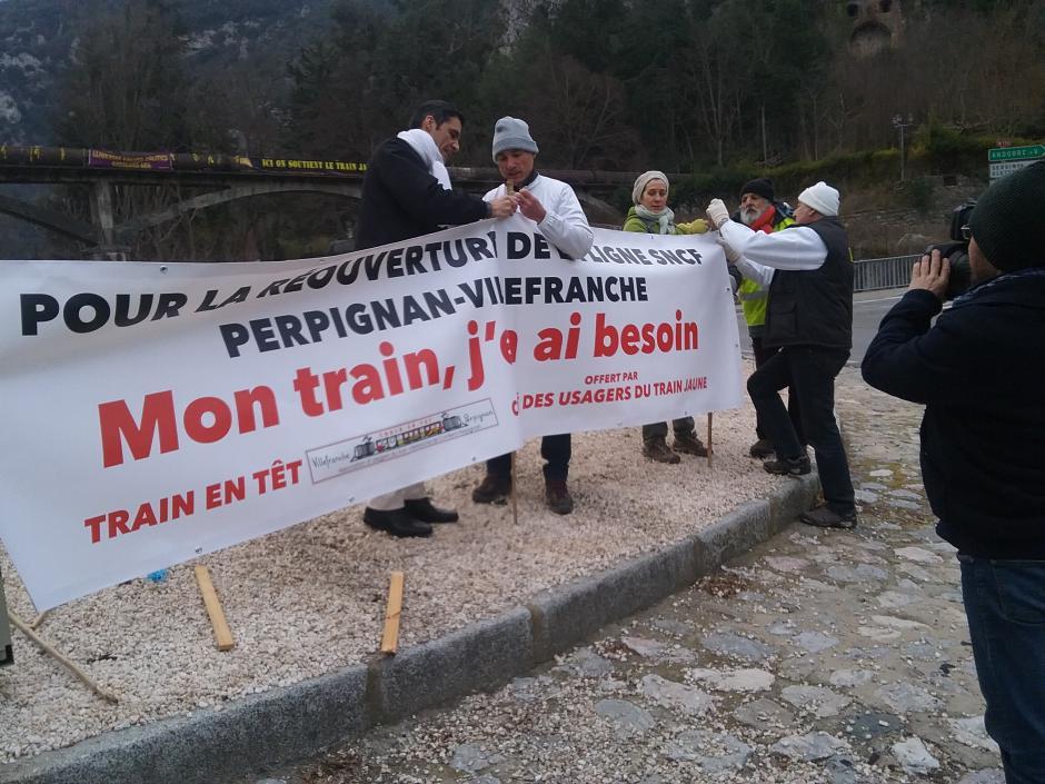 Villefranche-de-Conflent. Rassemblement « Train en Têt » pour la réouverture de la ligne (l'album photos)