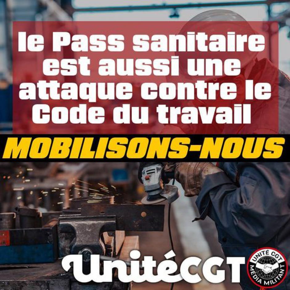 Pass sanitaire. La CGT revendique le retrait de la loi du 5 août (L'Indep)