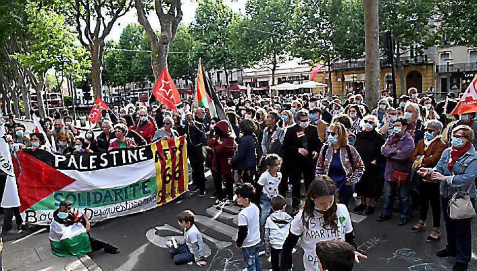 150 personnes réunis pour manifester leur solidarité avec le peuple palestinien (L'Indep)