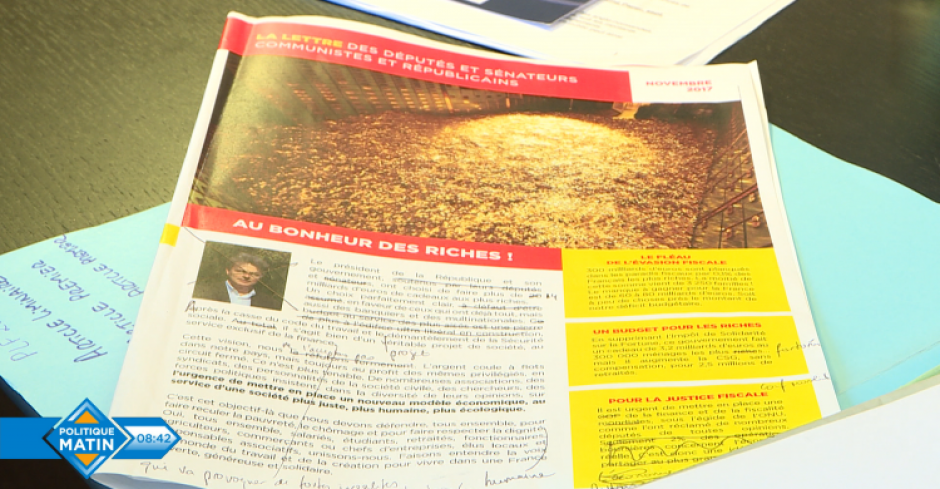Les parlementaires communistes dévoilent un contre-budget