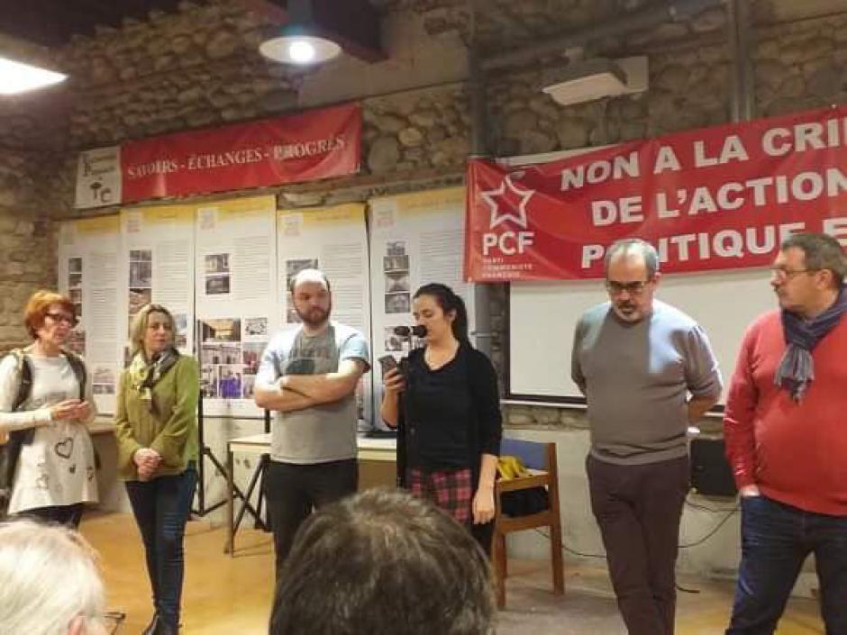 Vœux de la JC des Pyrénées-Orientales. Intervention de Léa Tytéca