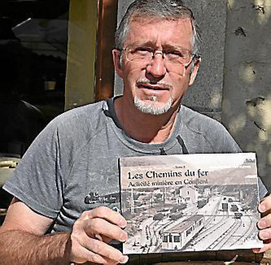 Saillagouse. « Les carnets du Train jaune », Pierre Cazanove en dédicace