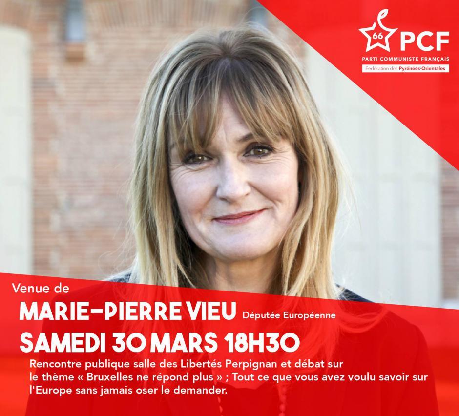 Marie-Pierre Vieu, députée européenne dans les Pyrénées-Orientales