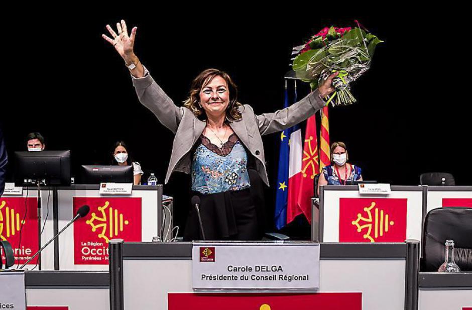 Conseil régional. Carole Delga, la présidente sortante débute son deuxième mandat (L'Indep)
