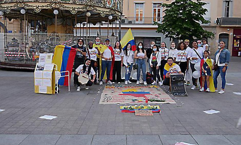Perpignan. L'hommage des expatriés au peuple colombien (L'Indep)