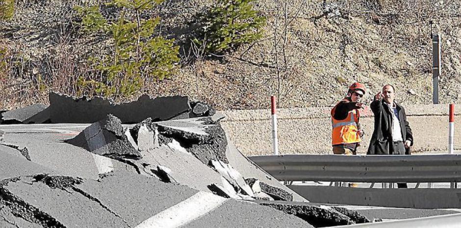 Glissement de terrain sur la RN116. Des sondages en sous-sol pour préparer le chantier