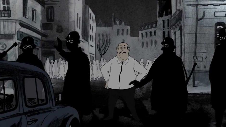 Octobre noir. Film d'animation réalisé par Aurel